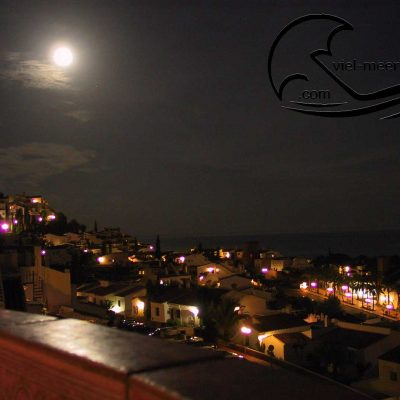 The romantic moon on your own terrace