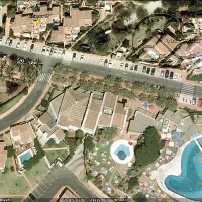 Google Earth photo of the big pool area of San Juan de Capistrano
