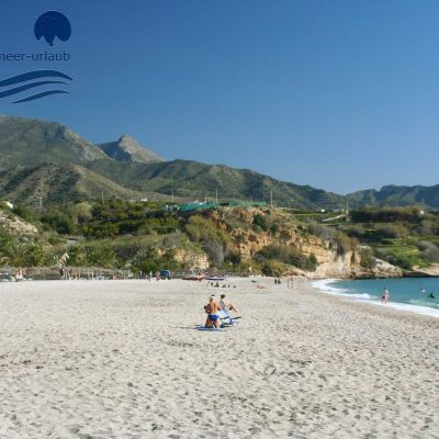 Burriana Beach in spring - Nerja